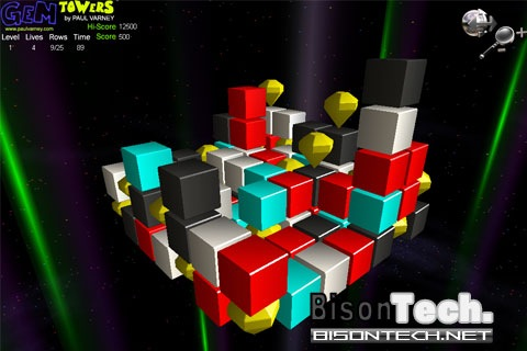 Gem Towers, puzzle game 3D