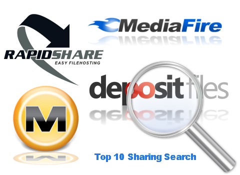 Top 10 motori di ricerca di sharinghost (Megaupload/Rapidshare/Depositfiles/Filesonic ecc…)