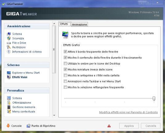 GIGATweaker, ottimizzare Windows 7