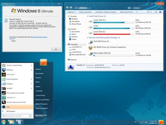 Trasformare Windows 7 in Windows 8