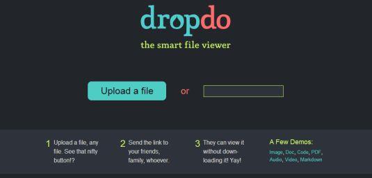 Dropdo.com, condividi i tuoi file con gli amici e visualizzali senza scaricarli