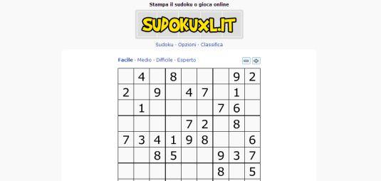 Sudokuxl, gioca al sudoku online o stampa i tuoi schemi di gioco
