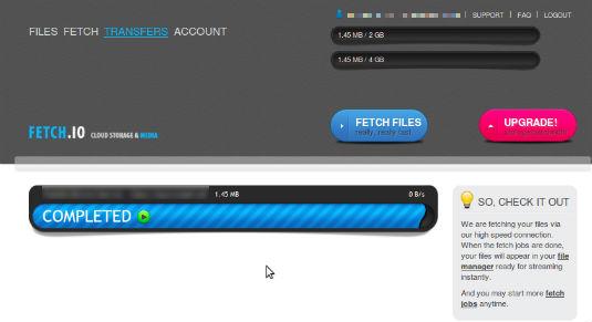 Fetch.io download manager web supporta torrent, megaupload, rapidshare e molti altri