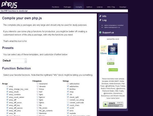 PHP.JS, una libreria che rende disponibile in js le funzioni php