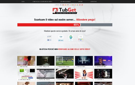 TubGet, scaricare i video in streaming da oltre 94 portali video