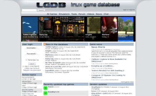 Linux Game Database, è un sito che recensisce giochi per linux