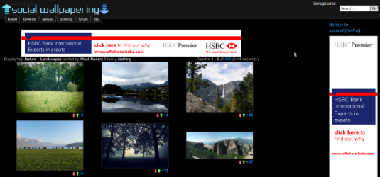 Social Wallpapers, ovvero il social network dedicato agli sfondi del desktop