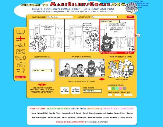 MakeBeliefsComix, creare il proprio fumetto online