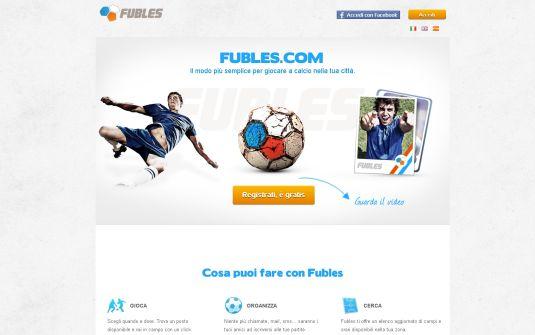 Fubles.com, organizza la tua partita di calcio online