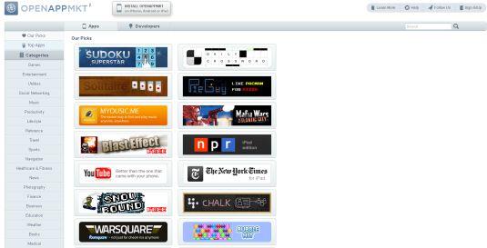 OpenAppMkt.com, un app store web per dispositivi mobile