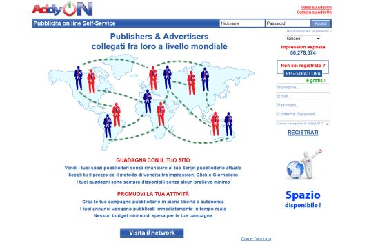AddyOn, vendere o comprare pubblicità online con un click!