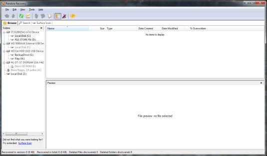 Pandora Recovery, recuperare file e directory perse!