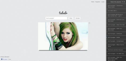 Tubalr, genera una playlist del tuo artista preferito.