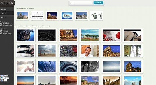 Photo Pin, un potente motore di ricerca di foto libere su flickr