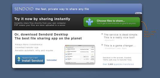Sendoid.com, condividere i file tramite web con tecnologia p2p