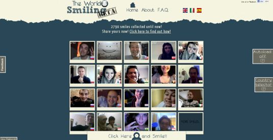 The World Smiling, il primo sito che collezziona sorrisi!!!