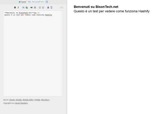 Hashify, creare pagine web contenute nella url