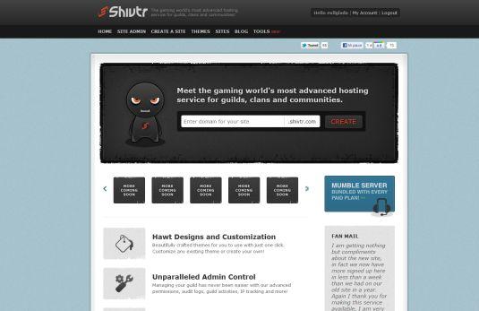 Shivtr.com, creare un sito per un clan non è mai stato cosi semplice