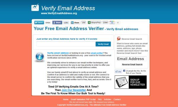 Verify Email Address, un servizio per controllare la validità di un e-mail