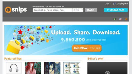eSnips, un servizio per lo sharing di file all'avanguardia…