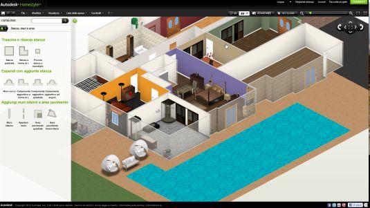 Autodesk homestyler un app web per progettare case e for App per progettare casa gratis