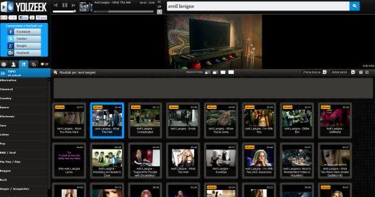YouZeek.com, player audio online cerca e ascolta le tue canzoni preferite
