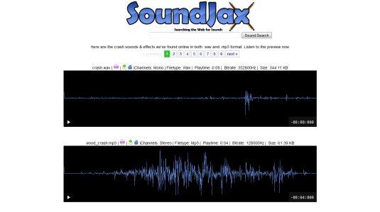 SoundJax tanti effetti sonori scaricabili gratuitamente