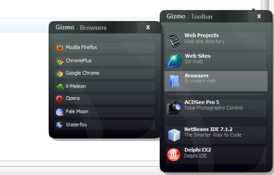 Gizmo Toolbar, una comoda e utilissima toolbar per Windows!!!