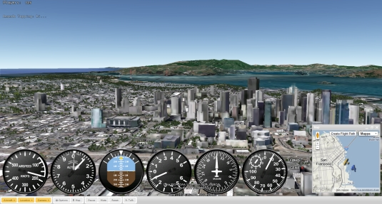 GEFS, ecco il primo simulatore di volo sul web realistico