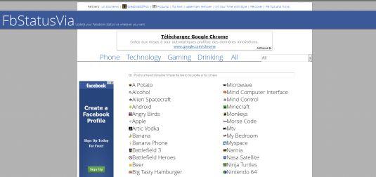 FBStatusVia, inviamo i nostri status Facebook attraverso tutto…