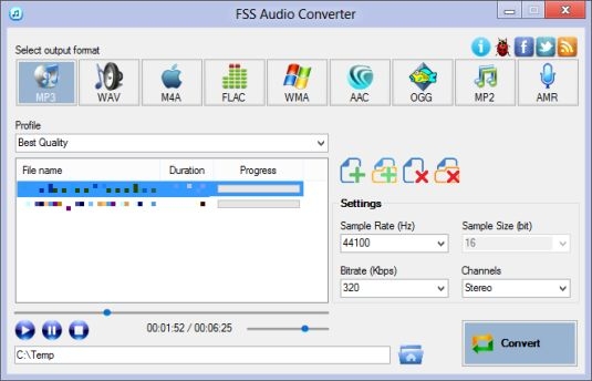 FSS Audio Converter convertiamo in nostri file audio con pochi click