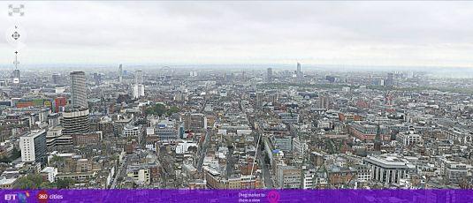 360Cities: foto di Londra da oltre 320gigapixel batte ogni record.