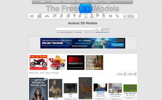 TheFree3DModels, modelli 3D gratis per tutti