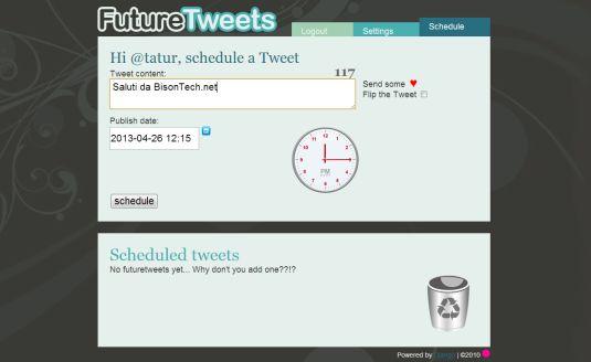 Postiamo i nostri tweet in differita con FutureTweets