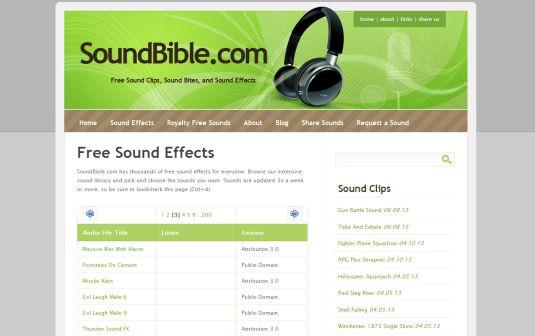 SoundBible, moltissimi effetti sonori gratis