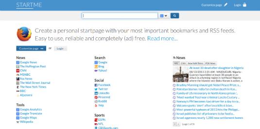 StartMe, personalizziamo la nostra start page