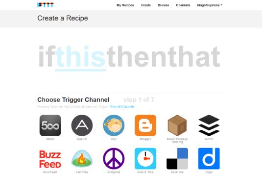"""IFTTT ossia """"if this then that"""" un sito che ci consente di gestire eventi sui maggiori social e siti"""
