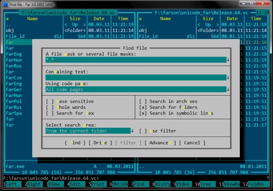 Far Manager, un pratico clone di Norton Commander per Windows