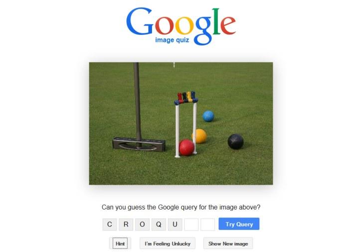 Google Image Quiz, un gioco di quiz basato sulle immagini trovate su Google